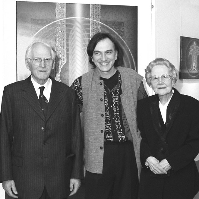 Socrates Geens with parents in Schoten